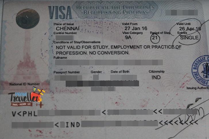 Philippines Tourist Visa for Indians